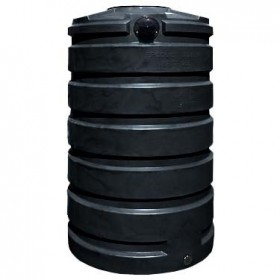 205 Gallon Black Rainwater Collection Storage Tank