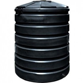 420 Gallon Black Rainwater Collection Storage Tank