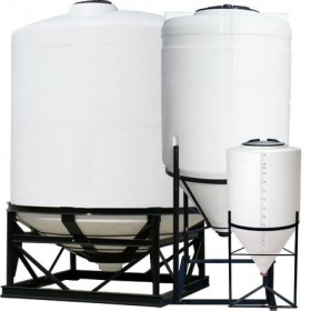 1500 Gallon Heavy Duty Chem-Tainer Cone Bottom Tank