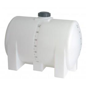65 Gallon White Horizontal Leg Tank