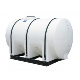 1065 Gallon White Horizontal Leg Tank