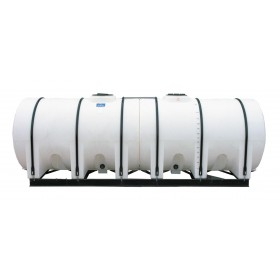 2600 Gallon White Horizontal Leg Tank