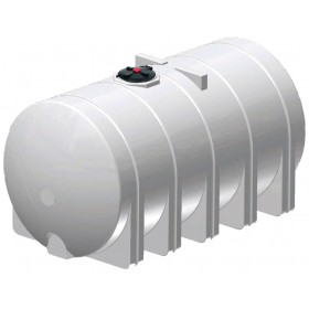 6025 Gallon White Horizontal Leg Tank
