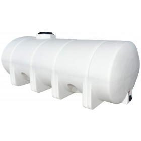 1625 Gallon White Horizontal Leg Tank