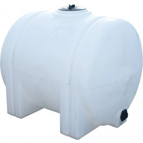 225 Gallon White Horizontal Leg Tank