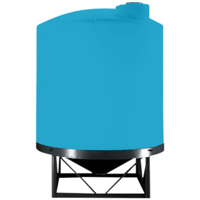 5500 Gallon Light Blue Heavy Duty Cone Bottom Tank
