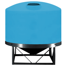 7500 Gallon Light Blue Heavy Duty Cone Bottom Tank