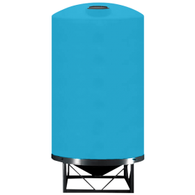 6000 Gallon Light Blue Heavy Duty Cone Bottom Tank