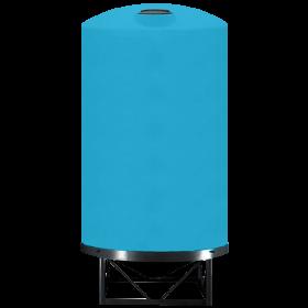 6000 Gallon Light Blue Heavy Duty Cone Bottom Tank