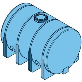 3725 Gallon Light Blue Heavy Duty Horizontal Leg Tank