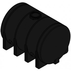 3725 Gallon Black Heavy Duty Horizontal Leg Tank