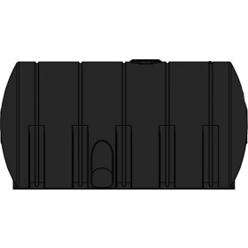 6025 Gallon Black Heavy Duty Horizontal Leg Tank