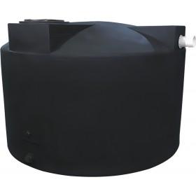 1500 Gallon Black Rainwater Collection Tank
