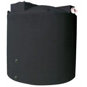 2500 Gallon Black Rainwater Collection Tank