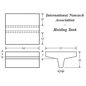 34 Gallon Marine Fresh Water Tank
