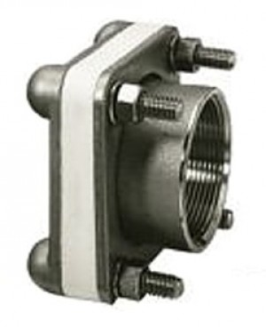 """4"""" 316 SS Female NPT Bolted Fitting w/ EPDM Gasket"""