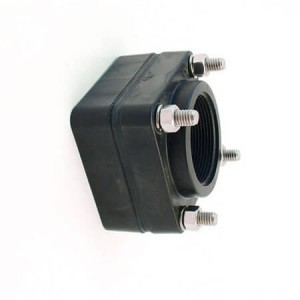 """2"""" PP Female NPT Bolted Fitting w/ EPDM Gasket"""