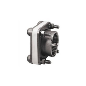 """4"""" 316 SS Female NPT Bolted Fitting w/ VITON Gasket"""