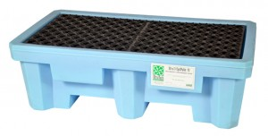 UltraTech 2-Drum Spill Pallet Fluorinated, With Drain