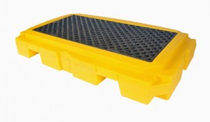 UltraTech 2-Drum Spill Pallet Plus, With Drain