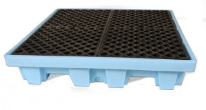 UltraTech 4-Drum Spill Pallet Fluorinated, With Drain