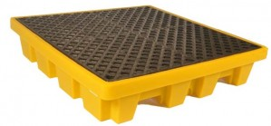 UltraTech 4-Drum Spill Pallet Nestable, With Drain