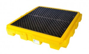 UltraTech 4-Drum Spill Pallet Plus, With Drain