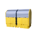UltraTech Twin IBC Hard Top Spill Pallet, With Drain