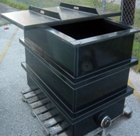 Black Polyethylene Rectangular Open Top Tank