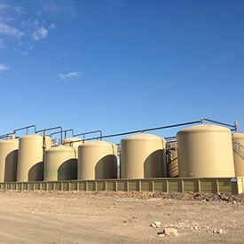 Oil and Gas Fiberglass Tanks