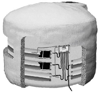insulated storage tank example