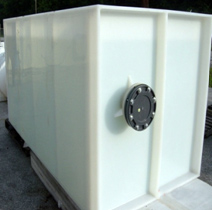 Closed Top Rectangular Open Top Tank