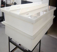 PP Rectangular Open Top Tank with Cover