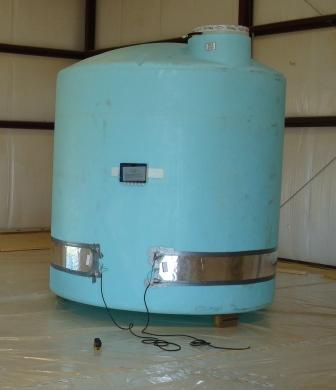 Heat Trace Vertical Storage Tank
